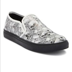 Steve Madden Helion Slip On Skull Shoes